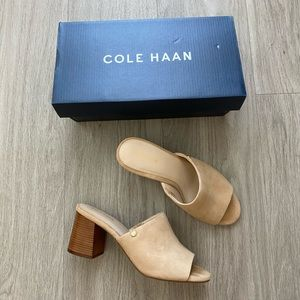 NWT Cole Haan Diana suede open toe mule sandal